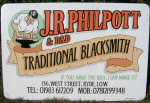 J R Philpott and Dad, Traditional Blacksmith